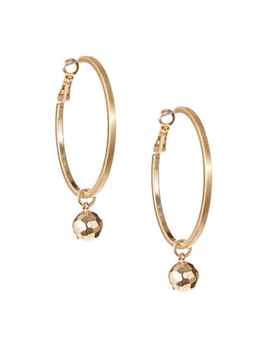 Expression Orb Hoop Earrings-GOLD-One Size