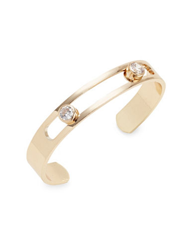 Expression Crystal Hinged Bracelet-GOLD-One Size