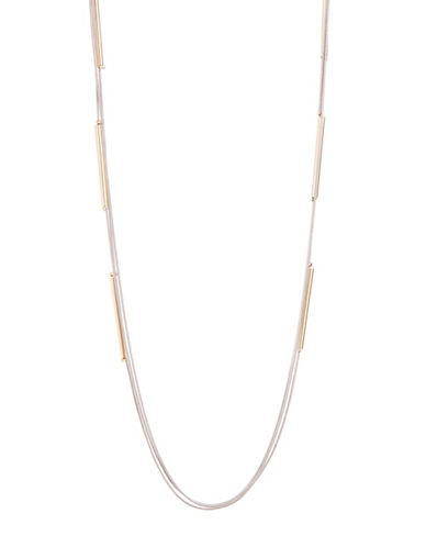 Expression Three Row Cylinder Bar Necklace-ASSORTED-One Size