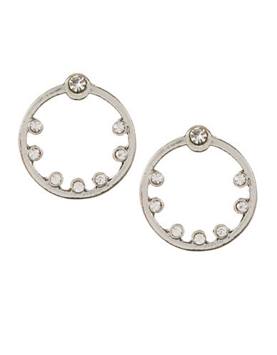 Expression Circle Studded Earrings-SILVER-One Size