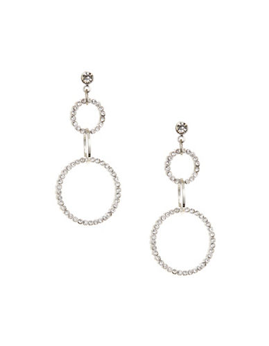 Expression Interlocking Ring Drop Earrings-SILVER-One Size