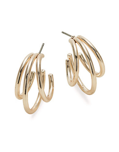 Expression Triple Row Hoop Earrings-ROSE GOLD-One Size