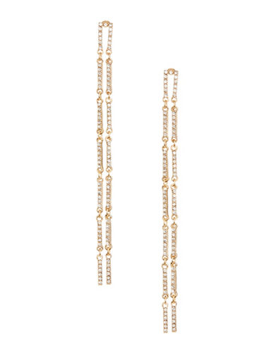 Expression Two-Row Flex Drop Earrings-GOLD-One Size