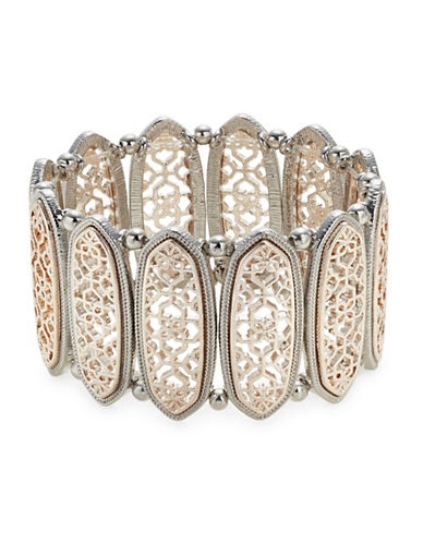 Expression Oval Filigree Stretch Bracelet-ASSORTED-One Size