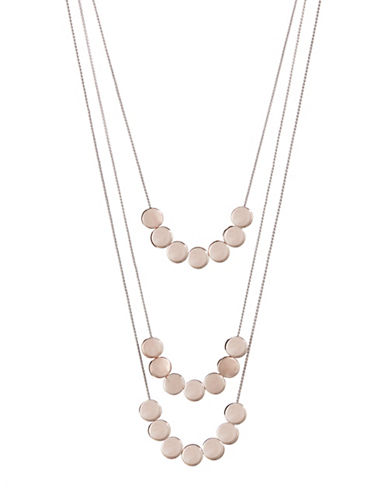 Expression Three Row Disk Necklace-ASSORTED-One Size