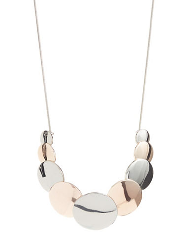Expression Two-Tone Multi-Disc Necklace-ASSORTED-One Size