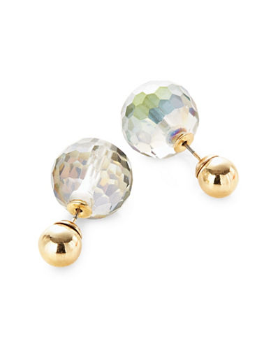 Expression Faceted Bead Detail Stud Earrings-ASSORTED-One Size