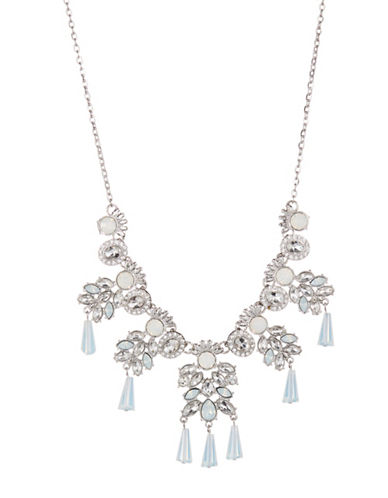 Expression Rhinestone Statement Necklace-SILVER-One Size