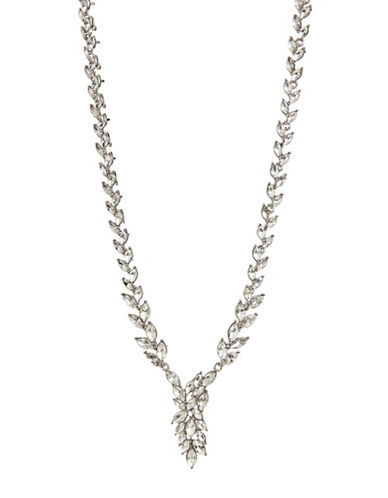 Expression Navettes Collar Necklace-SILVER-One Size
