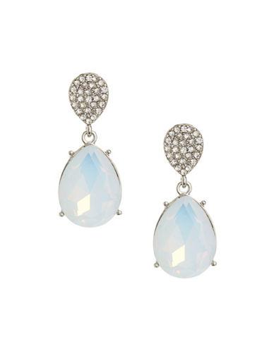 Expression Double Teardrop Earrings-WHITE-One Size