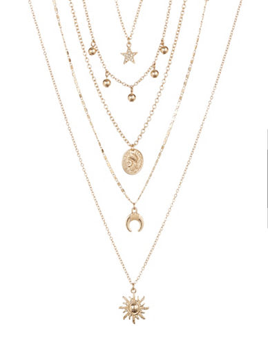 Expression Five-Piece Celestial Necklace Set-GOLD-One Size