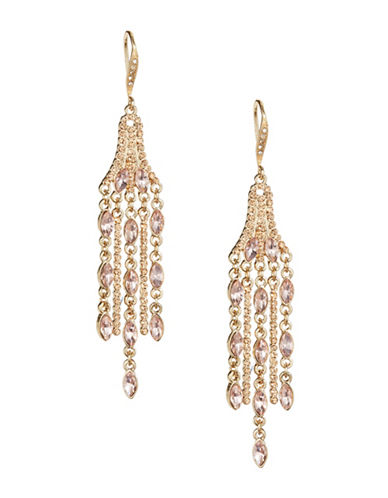 Expression Dangly Stones Chandelier Earrings-ORANGE-One Size