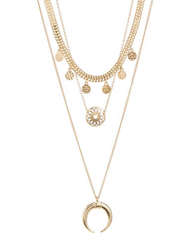 Expression Set of Three Bohemian Necklaces-GOLD-One Size
