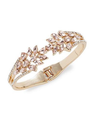 Expression Floral Rhinestone Cuff Bracelet-ORANGE-One Size