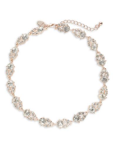 Expression Rhinestone Choker Necklace-ROSE GOLD-One Size