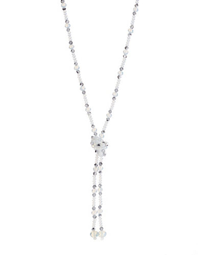 Expression Beaded Knot Necklace-BEIGE-One Size