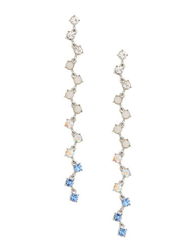 Expression Tonal Vine Stone Drop Earrings-BLUE-One Size