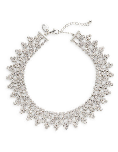 Expression Rhinestone Choker Necklace-SILVER-One Size