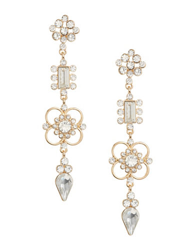 Expression Multi-Stone Link Drop Earrings-GOLD-One Size
