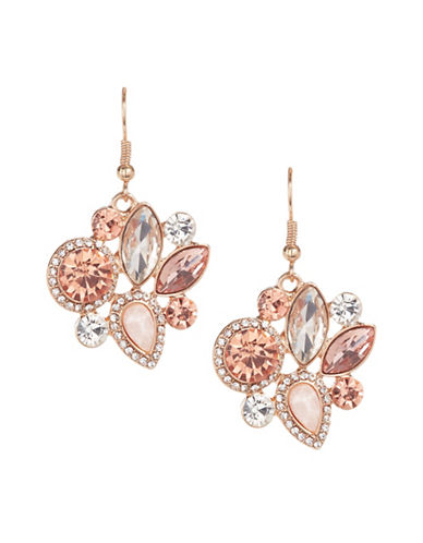 Expression Pavé Crystal Candy Drop Earrings-ORANGE-One Size