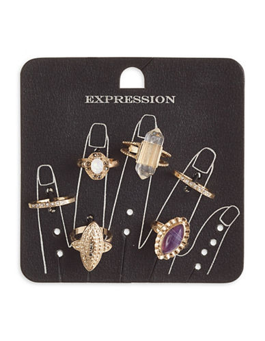 Expression Set of Six Accent Rings-ASSORTED-7