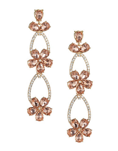 Expression Floral Tear Drop Earrings-ORANGE-One Size
