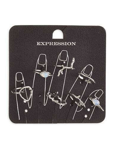 Expression Set of Seven Twig Rings-SILVER-9