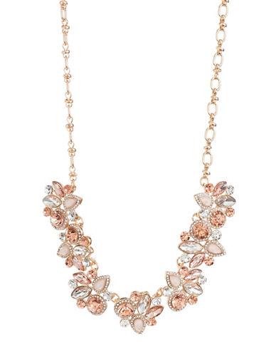 Expression Pavé Crystal Candy Navette Statement Necklace-ORANGE-One Size