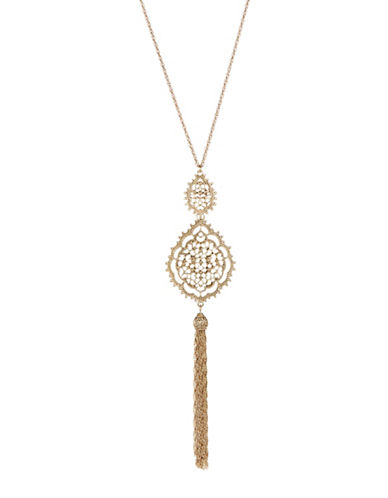 Expression Antique Filigree Necklace-GOLD-One Size