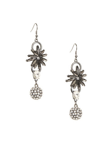 Expression Multi-Link Ball Drop Earrings-GREY-One Size