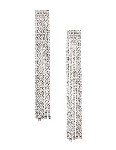 Expression Crystal Tassel Chandelier Earrings-SILVER-One Size