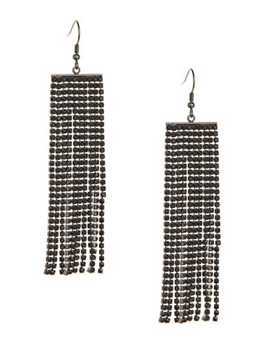 Expression Tassel Curtain Earrings-BLACK-One Size