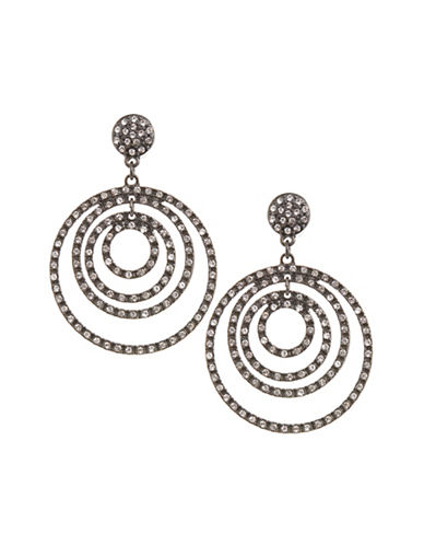 Expression Echo Ring Drop Earrings-BLACK-One Size
