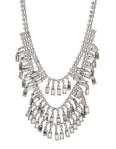 Expression Rhinestone Statement Necklace-GREY-One Size