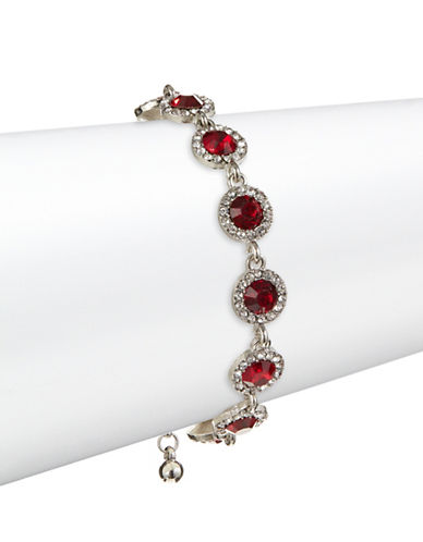 Expression Ruby Red Rhinestone Bracelet-RED-One Size
