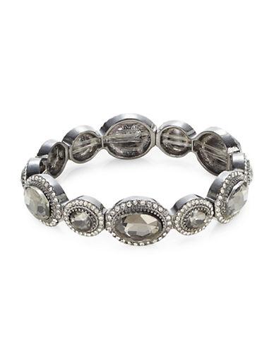Expression Crystal Oval Bracelet-BLACK-One Size