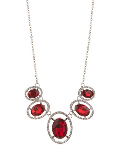 Expression Five Piece Rhinestone Necklace-RED-One Size
