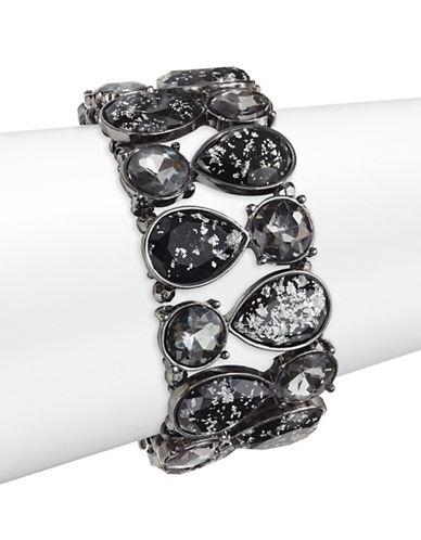 Expression Oval Stone Stretch Bracelet-BLACK-One Size