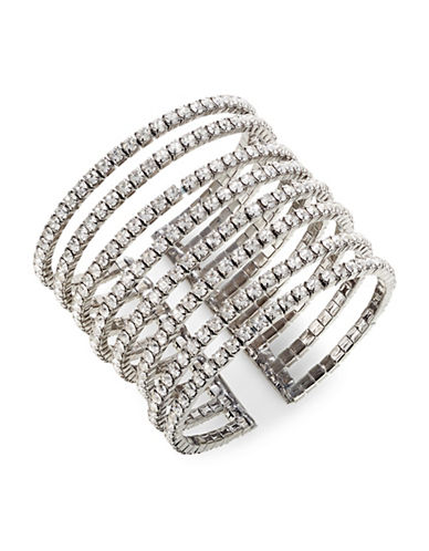 Expression Eight Row Cuff Bracelet-SILVER-One Size