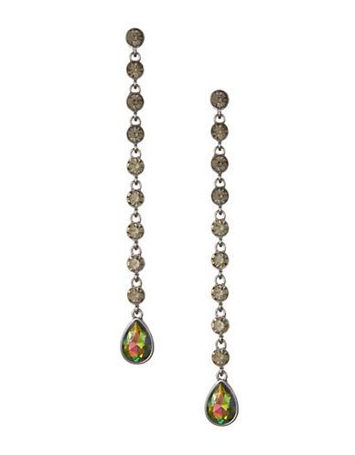 Expression Teardrop Rhinestone Earrings-MULTI-One Size