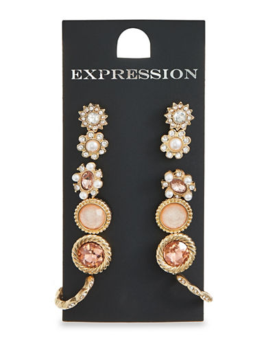 Expression Six Pack Candy Stud Earrings-ROSE GOLD-One Size