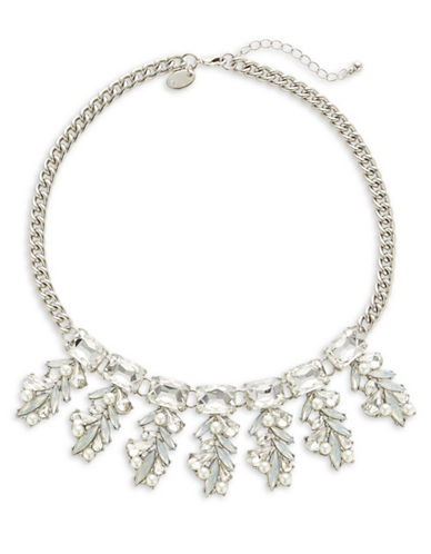 Expression Silvertone Pendant Statement Necklace-BEIGE-One Size