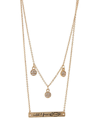 Expression Two Row Gold Chain Necklace-GOLD-One Size