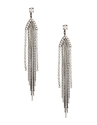 Expression Multi-Chain Drop Earrings-GREY-One Size