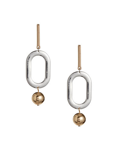 Design Lab Lord & Taylor Silvertone Drop Ball Bar Earrings-ASSORTED-One Size