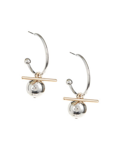 Design Lab Lord & Taylor Bar Hoop Earrings-ASSORTED-One Size