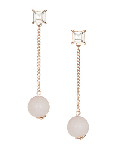 Design Lab Lord & Taylor Stone Stud Ball Drop Earrings-PINK-One Size