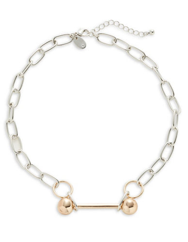 Design Lab Lord & Taylor Bar Link Necklace-ASSORTED-One Size