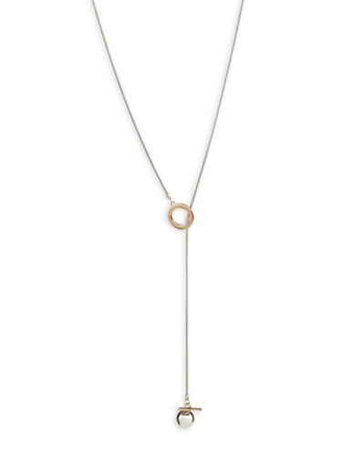 Design Lab Lord & Taylor Goldtone and Silvertone Bar Ball Pendant Necklace-ASSORTED-One Size