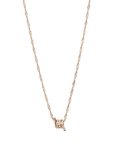 Design Lab Lord & Taylor Crystal Pave Wire Necklace-GOLD-One Size